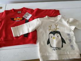 Set of 2 brand new baby sweater