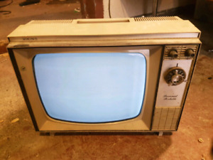 Petite television N/B datant 1960 avec lampe 12 inches  Fonction