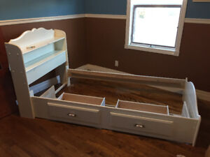Captains Style Twin Bed Frame for Sale!