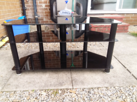 Glass TV stand. Solid. Great condition. £20