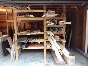 Wood siding, casings and baseboard, stairs etc