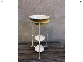 Antique French Art Deco Metal Wash Stand