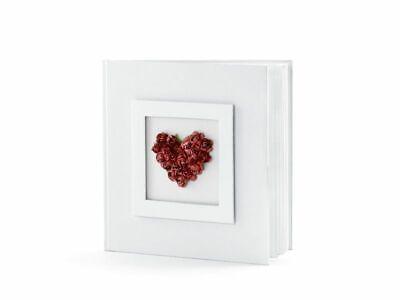 Álbum Libro Matrimonio Para Firma con Corazón Rojo