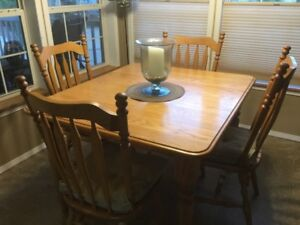Solid Oak Table and Chairs NEW PRICE