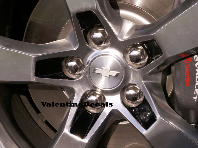 Chevy Camaro Lug Nut Wheel Rim Decal Overlay 2010 2011 2012
