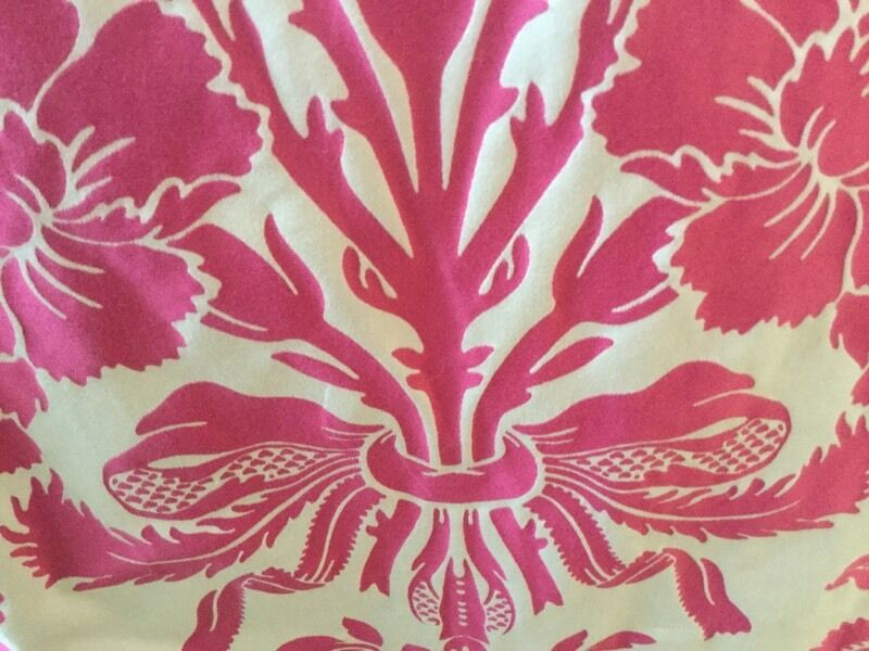 Laura Ashley Cerise Tatton Curtains Pole And Matching Cushions And