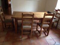 Large Oak Farmhouse Dining Table extendable - John Lewis