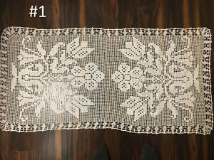 Hand made crochet table/ coffece table cover