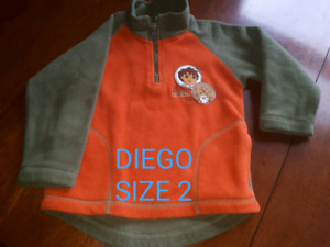 Size 2 children's clothing boys