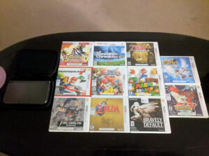 New Nintendo 3DS XL with games, case and charger cable