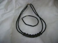 Black Stone Necklace and Braclet