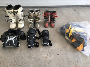 Dirt bike boots and apparel