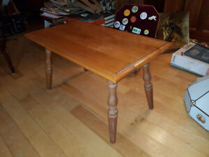 Small vintage solid wood accent table