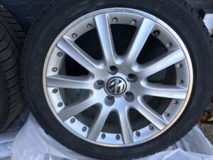 4 Michelin X-Ice 225 45 17 Winter tires for sale on VW Rims