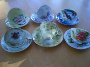 CUP AND SAUCERS ROYAL ALBERT, ADDERLY, HAND PAINTED Windsor Region Ontario image 3