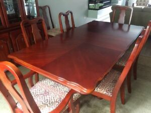Dining Room Table, 8 Chairs, China Cabinet & Sideboard