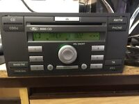 Ford 6000cd stereo with code fits focus transit connect