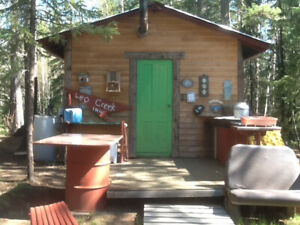 Private  cabin  near creek ,lake acess. Bring only food ,drinks.