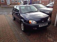 2002 Ford Fiesta blue 3 door