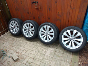 235/45R17 Pirelli P7+ tires on VW Phoenix wheels