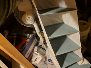 Used closet organizer with lots of storage space