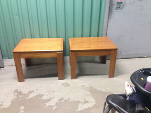 Two wooden end tables $75.00 OBO
