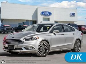 2017 Ford Fusion SE AWD w/Leather, Moonroof, Nav, and More!
