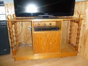 meuble pour stereo en chene