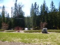 Beautiful Kingfisher RV Site @ Mabel Lake, B.C..