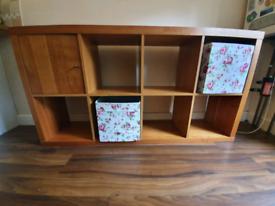 Wooden cube storage unjt