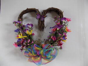 Home Made Decorated Wreath
