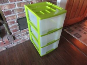 PLASTIC STORAGE DRAWERS - 2 sets - REDUCED!!!!