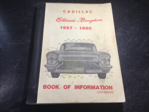 1957-60 Cadillac Eldorado Brougham Information Book Shop Manuals
