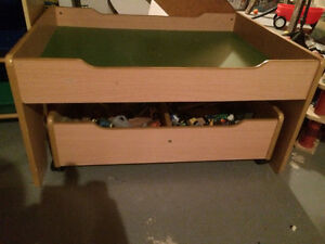 Train table with drawer