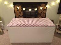 Blanket box ottoman storage box