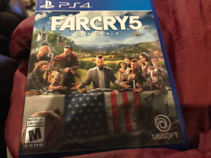 Farcry5 PS4 game.mint condition