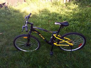 Unisex Adult Bike- black and yellow