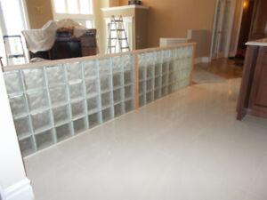 Blocs de verre  pour muret