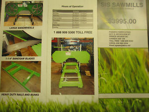 BANDSAW MILL SAWMILL COMPLETE WITH 24 FOOT TRACK 14 HP KOHLER 21