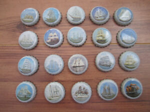 1980's Oland's Tall Ship Beer Bottle Caps!