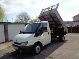 2002 FORD TRANSIT T350 MWB 2.4 TD 90 BHP 5 SPEED SINGLE CAB ALLOY TIPPER NO VAT