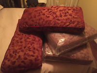Sofa or Floor CUSHIONS Rust Leaves Botton & Back (Pier Imports)