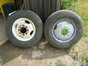 "16.5"" x 8.75"" FORD ONE TON RIMS AND TIRES"
