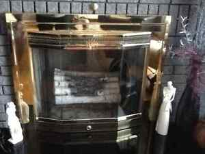 Brass fireplace doors