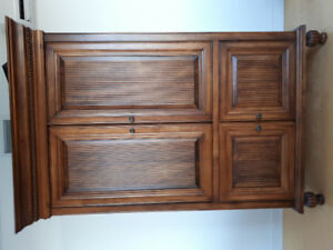Luxury wood armoire
