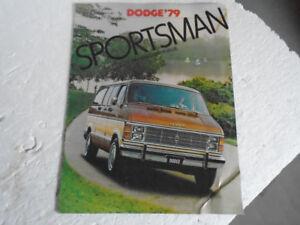 "1979 Dodge Sportsman VAN ""Wagon Loads Of Value"" Sales Brochure"