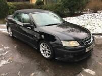 Saab 9-3 2.0T 5sp Aero (210bhp)CONVERTIBLE,BLACK,FULLY SERVICED,
