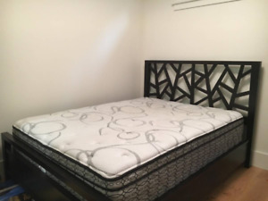 Eq3 bed frame Sealy mattress