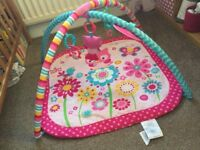 PINK BABY PLAY MAT ACTIVITY FUN excellent condition, boxed girl flowers