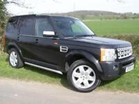 LAND ROVER DISCOVERY 3 HSE METROPOLIS LE NAV LEATHER PANORAMIC REAR DVD BLACK